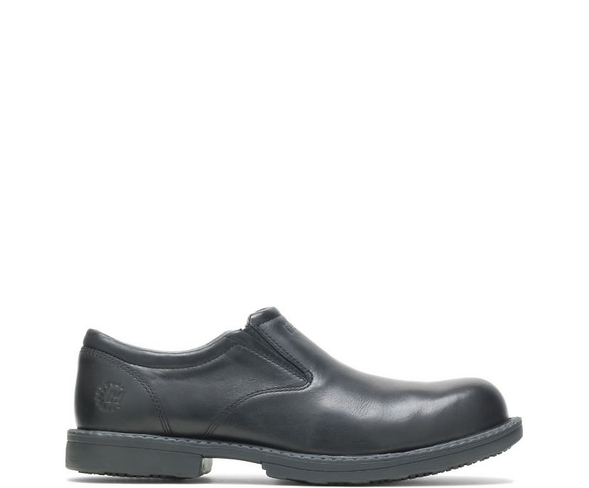 Bradford Steel Toe Slip On, Black, dynamic