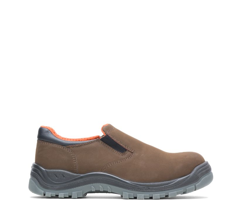 Knox Direct Attach Steel Toe Slip On, Brown, dynamic