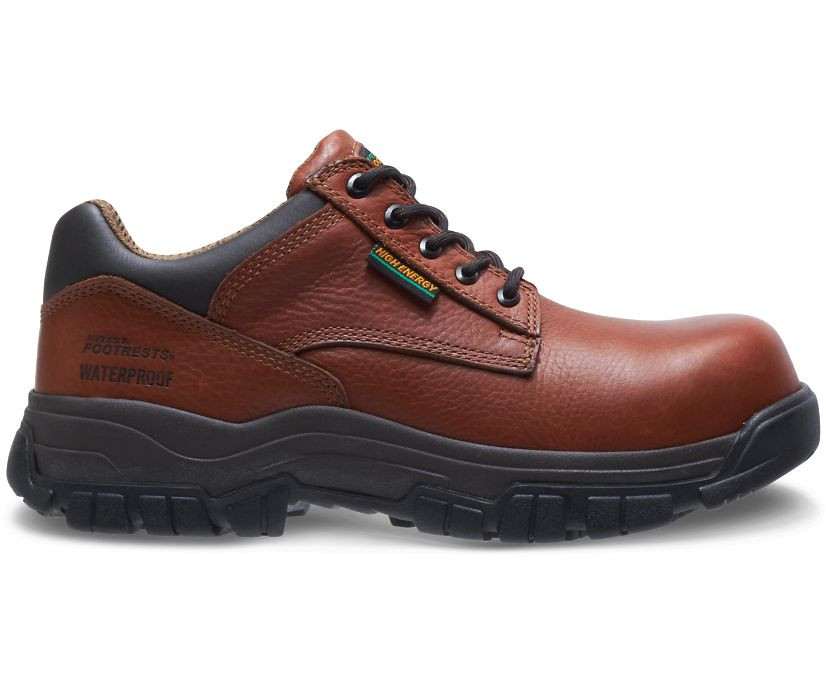 FootRests® High Energy Waterproof Composite Toe Shoe, Brown, dynamic