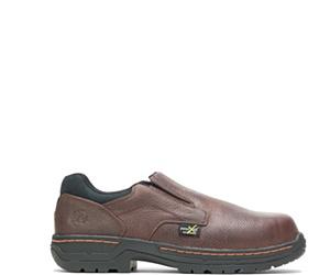FootRests® Xt Metatarsal Guard Nano Toe Slip On, Brown, dynamic