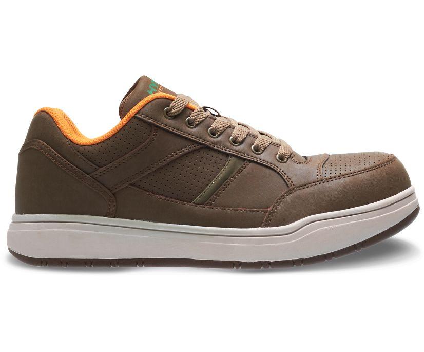 Zane Steel Toe Shoe, Brown, dynamic