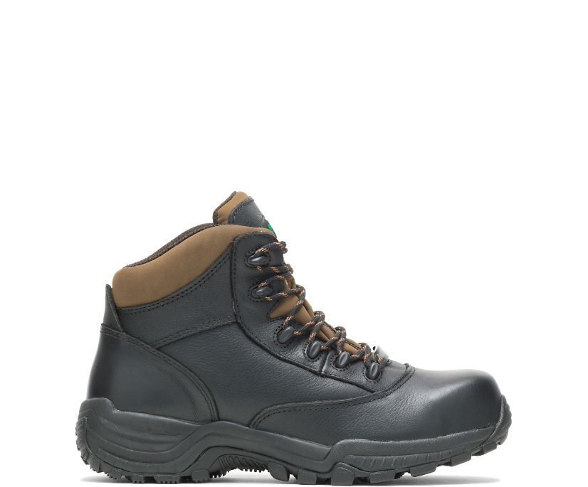 "Stout Waterproof Composite Toe 6"" Hiker, Black, dynamic"