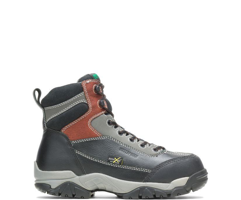 "Apex Waterproof Metatarsal Guard Composite Toe 6"" Work Boot, Black, dynamic"