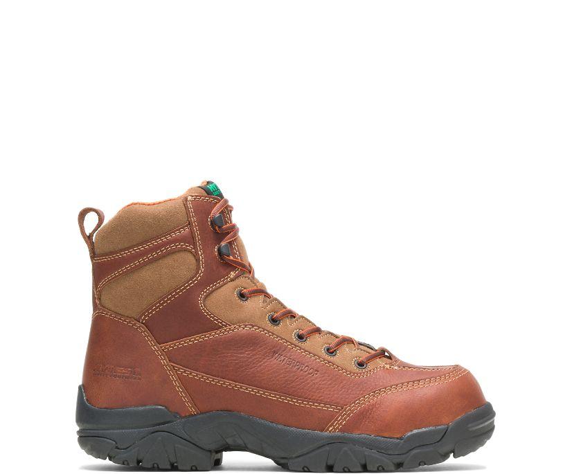 """Apex Waterproof Composite Toe 6"""" Work Boot, Brown, dynamic"""