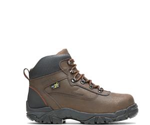 """Apex Waterproof Metatarsal Guard Steel Toe 6"""" Work Boot, Brown, dynamic"""