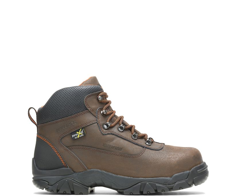"Apex Waterproof Metatarsal Guard Steel Toe 6"" Work Boot, Brown, dynamic"