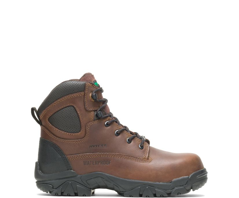 "Apex Waterproof Composite Toe 6"" Work Boot, Brown, dynamic"