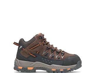 """Nickel Metatarsal Guard Steel Toe 6"""" Hiker, Brown, dynamic"""