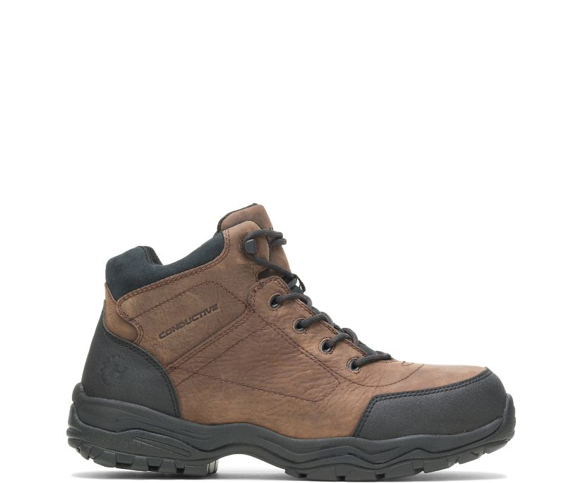 "Avery Conductive Steel Toe 6"" Hiker, Brown, dynamic"