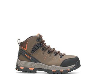 """Nickel Waterproof Steel Toe 6"""" Hiker, Brown, dynamic"""