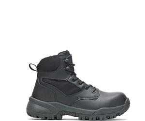 "Jax Composite Toe Side Zip 6"" Work Boot, Black, dynamic"
