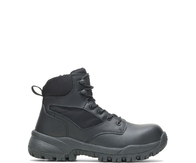 "Jax Composite Toe Side Zip 6"" Work Boot, Black, dynamic"