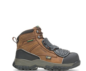 """FootRests® High Energy Super-Guard X Waterproof Metatarsal Guard Composite Toe 6"""" Work Boot, Brown, dynamic"""