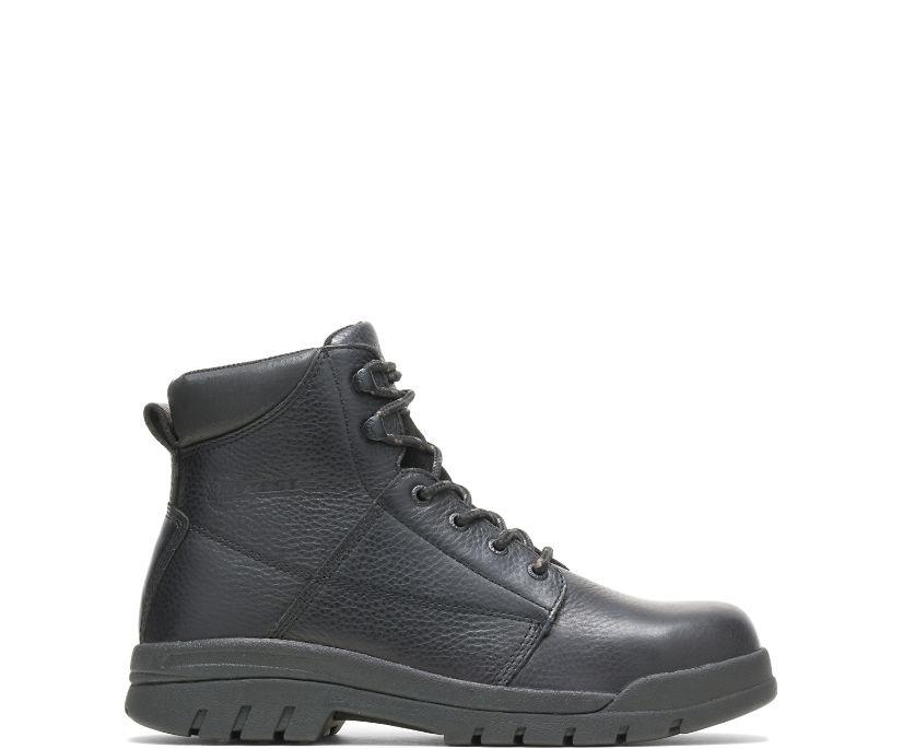 "Zinc Steel Toe Puncture Resistant 6"" Work Boot, Black, dynamic"