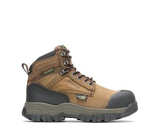 "FootRests® High Energy Waterproof Metatarsal Guard Composite Toe  6"" Work Boot, Brown, dynamic"