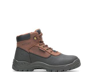 "Knox Waterproof Direct Attach Steel Toe 6"" PR Work Boot, Brown, dynamic"