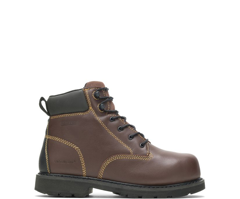 "Ajax Metatarsal Guard Steel Toe 6"" Work Boot, Brown, dynamic"