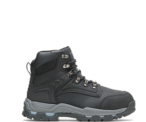 "Nickel Metatarsal Guard Steel Toe 6"" Work Boot, Black, dynamic"