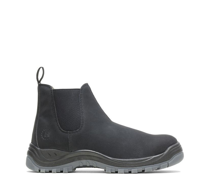 Knox Direct Attach Steel Toe Slip On Work Boot, Black, dynamic
