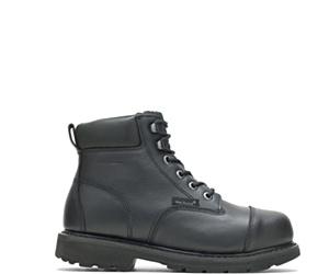 """Brone Waterproof Metatarsal Guard Steel Toe 6"""" Work Boot, Black, dynamic"""