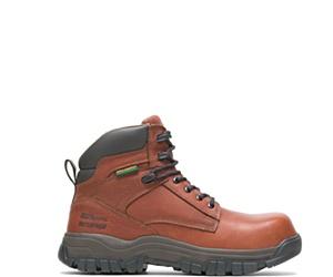 "FootRests® High Energy Waterproof Composite Toe  6"" Work Boot, Brown, dynamic"