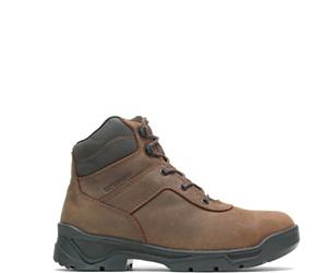 "Knock Waterproof  Direct Attach Steel Toe 6"" Boot, Brown, dynamic"