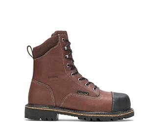 "Metatarsal Guard Steel Toe 8"" Work Boot, Brown, dynamic"