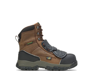 """FootRests® High Energy Super-Guard X Waterproof Metatarsal Guard Composite Toe 8"""" Work Boot, Brown, dynamic"""