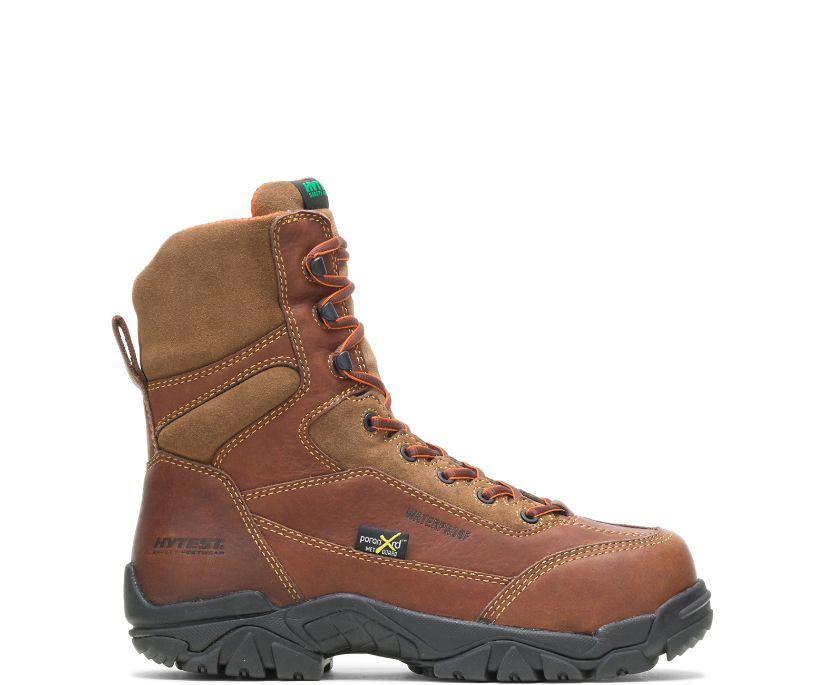 "Apex Waterproof Metatarsal Guard Composite Toe 8"" Work Boot, Brown, dynamic"