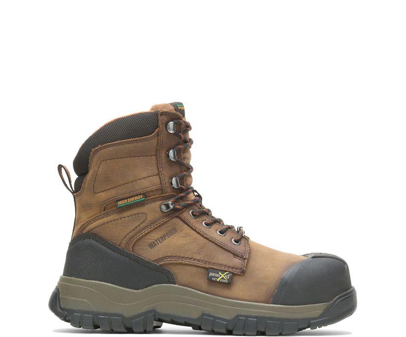 "FootRests® High Energy Waterproof Metatarsal Guard Composite Toe 8"" Work Boot, Brown, dynamic"