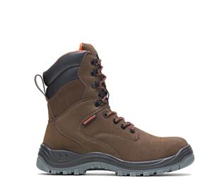 "Knox Waterproof Direct Attach Steel Toe 8"" Boot, Brown, dynamic"