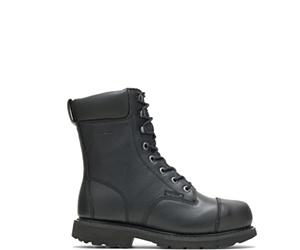 """Brone Waterproof Metatarsal Guard Steel Toe 8"""" Work Boot, Black, dynamic"""