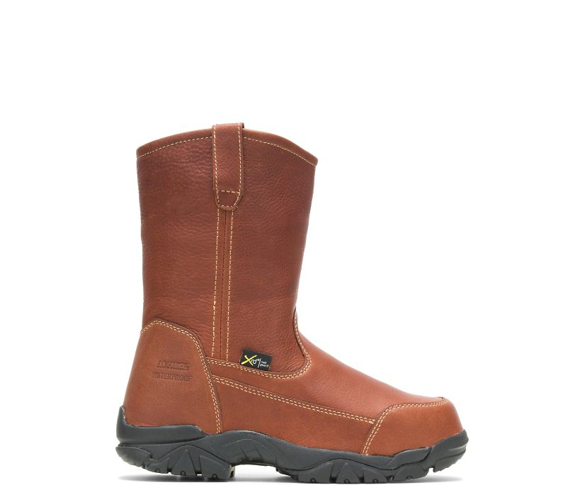 Apex Waterproof Metatarsal Guard Composite Toe Wellington, Brown, dynamic