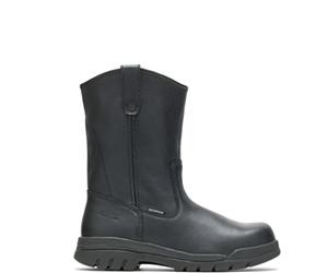 Zinc Waterproof Steel Toe Wellington, Black, dynamic