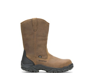 Apex Waterproof Insulated Composite Toe Wellington, Brown, dynamic