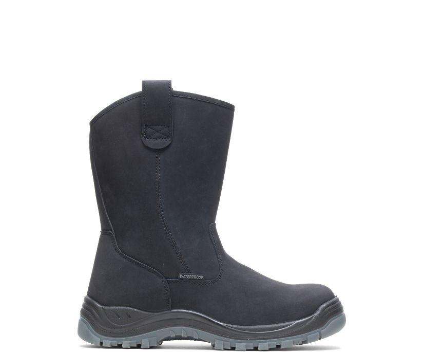 Knox Waterproof Direct Attach Steel Toe Wellington, Black, dynamic
