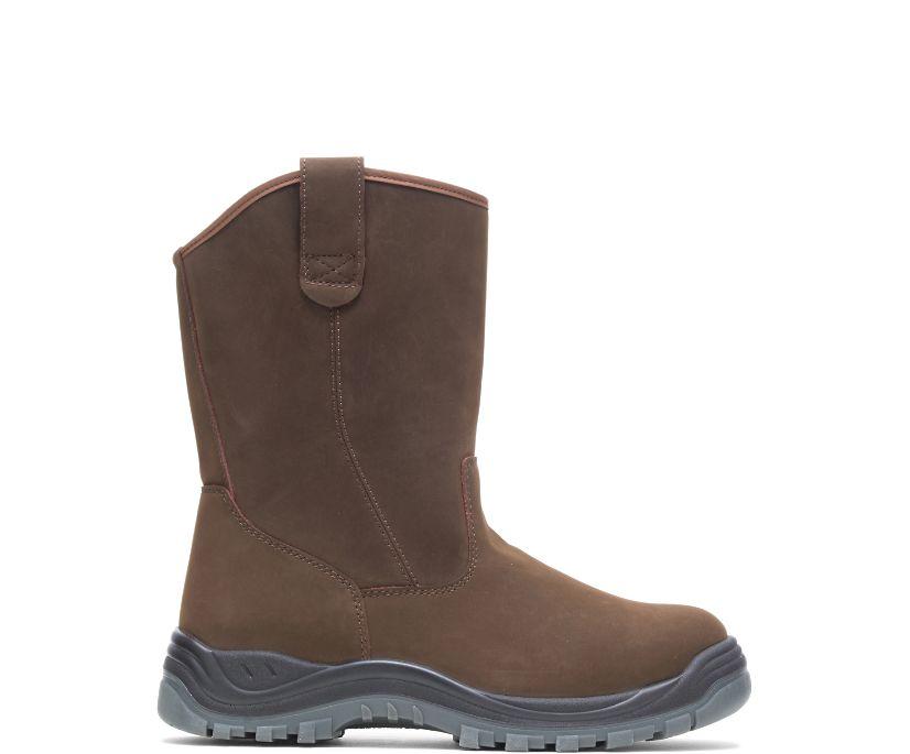 Knox Waterproof Direct Attach Steel Toe Wellington, Brown, dynamic