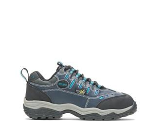 Avery Metatarsal Guard Steel Toe Shoe, Navy, dynamic