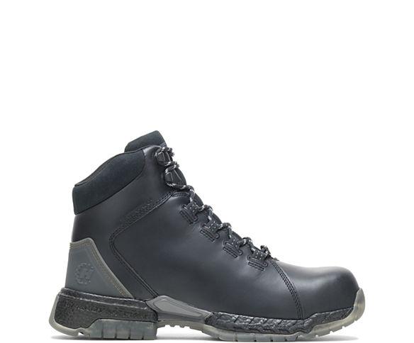 "FootRests® 2.0 Rebound Waterproof Nano Toe 6"" Hiker, Black, dynamic"