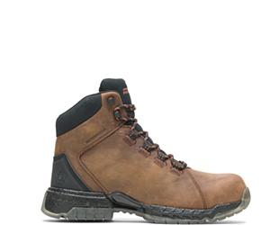 """FootRests® 2.0 Rebound Waterproof Nano Toe 6"""" Hiker, Brown, dynamic"""