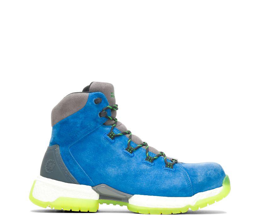 "FootRests® 2.0 Rebound Waterproof Nano Toe 6"" Hiker, Blue, dynamic"