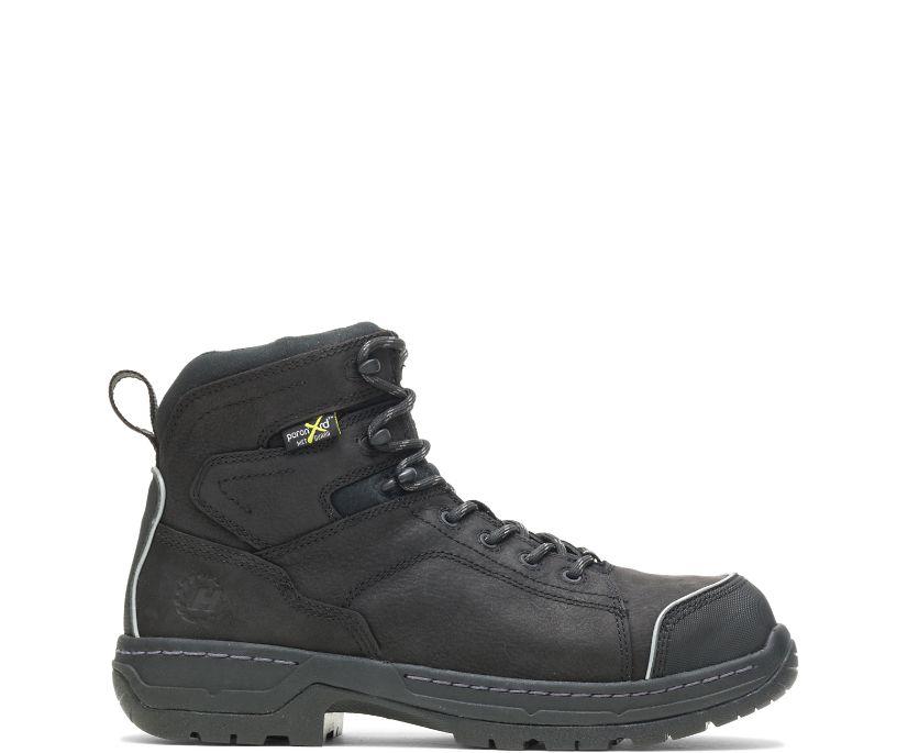 """FootRests® Xt Metatarsal Guard Nano Toe 6"""" Work Boot, Black, dynamic"""