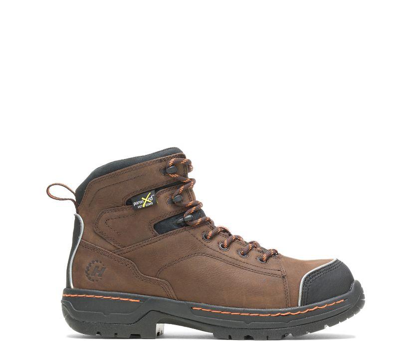 "FootRests® Xt Metatarsal Guard Nano Toe 6"" Work Boot, Brown, dynamic"