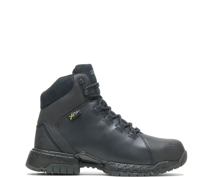 "FootRests® 2.0 Rebound Waterproof Metatarsal Guard Nano Toe 6"" Hiker, Black, dynamic"