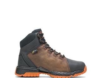 "FootRests® 2.0 Rebound Waterproof Metatarsal Guard Nano Toe 6"" Hiker, Brown, dynamic"