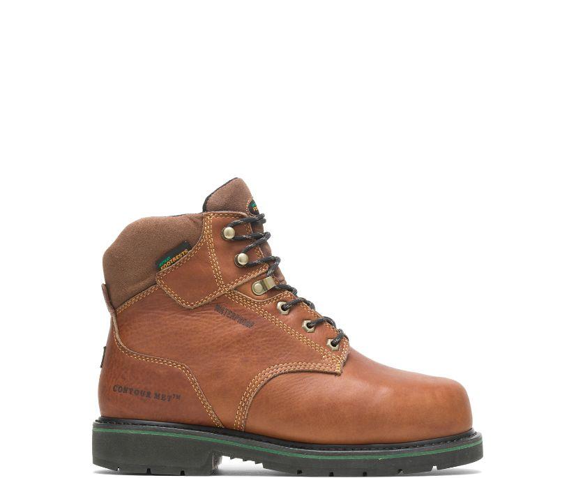 "FootRests® Waterproof Metatarsal Guard Composite Toe 6"" Work Boot, Brown, dynamic"