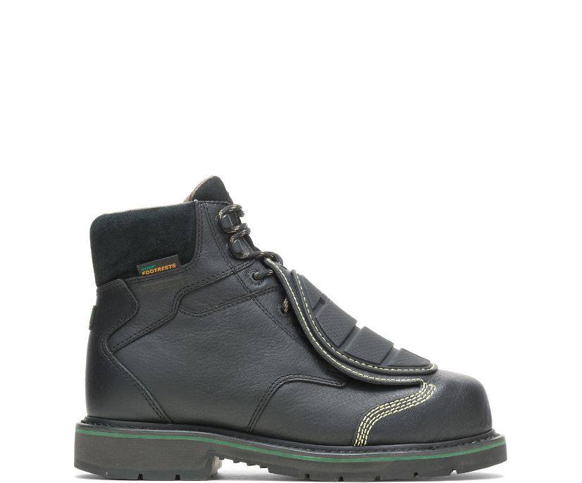 "FootRests® Waterproof External Metatarsal Guard Composite Toe 6"" Work Boot, Black, dynamic"