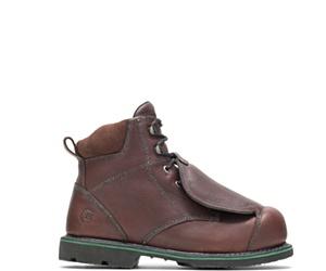 "FootRests® High Heat Resistant External Metatarsal Guard Steel Toe 6"" Work Boot, Brown, dynamic"