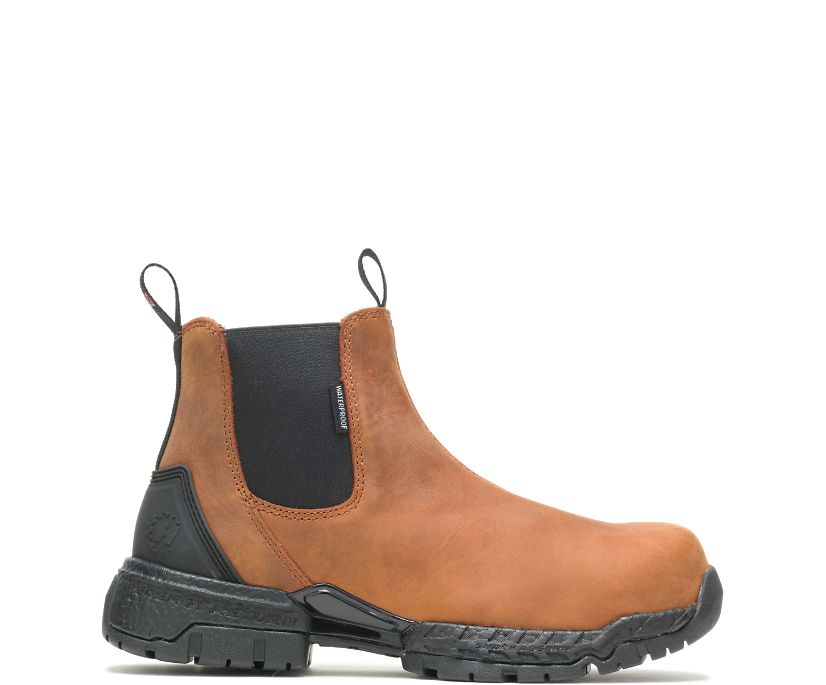 Men's FootRests® 2.0 Zone Waterproof Nano Toe Chelsea, Brown, dynamic