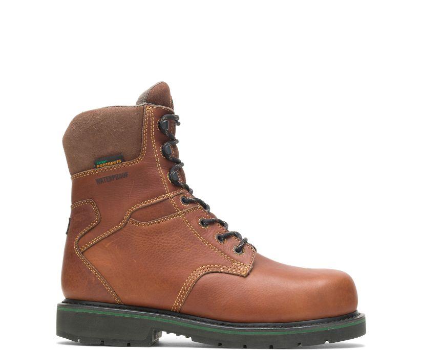 "FootRests® Waterproof Composite Toe 8"" Work Boot, Brown, dynamic"